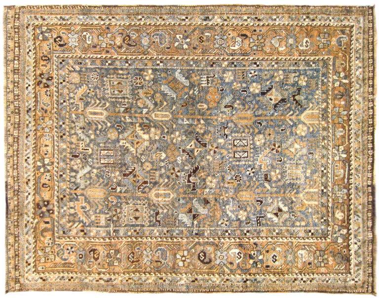 Vintage Persian Shiraz Oriental Rug, in