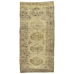 Vintage Persian Shiraz Rug with Modern Shaker Style