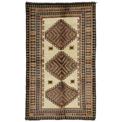 Vintage Persian Shiraz Tribal Rug, Tribal Accent Rug