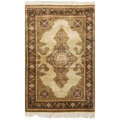Vintage Persian Silk Qum Rug 3' x 5'