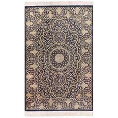 Vintage Persian Silk Qum Rug. Size: 3 ft 3 in x 4 ft 10 in