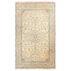Vintage Persian Silk and Wool Nain Rug 7' x 11'2