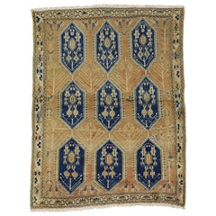 Vintage Persian Sirjan Accent Rug for Entry, Kitchen, Foyer, or Bathroom