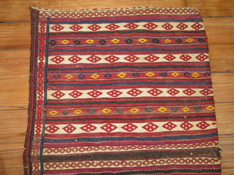 Hand-Knotted Vintage Persian Sofreh Kilim For Sale
