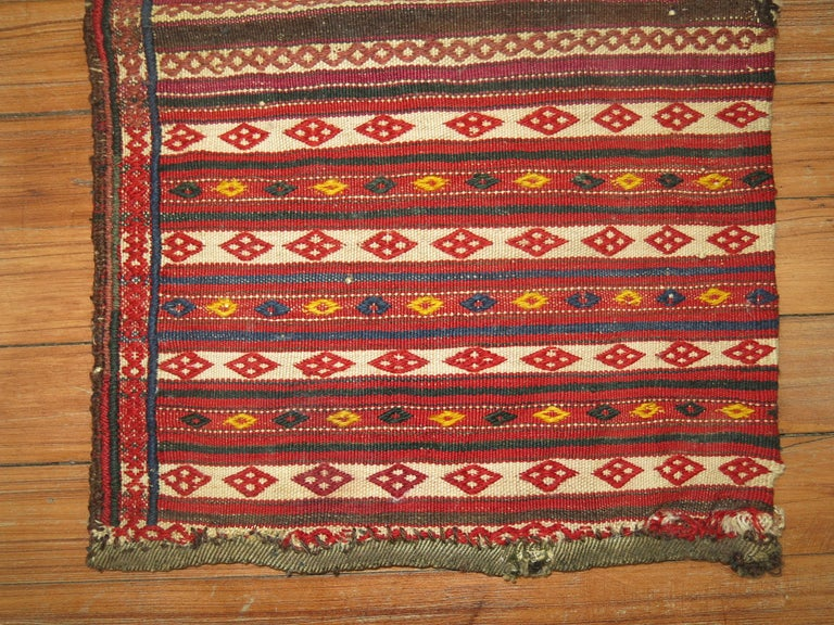 Vintage Persian Sofreh Kilim In Good Condition For Sale In New York, NY