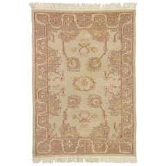 Vintage Persian Soumak Rug with English Country Style, Flat-Weave Kilim Rug