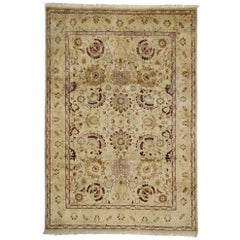 Vintage Persian Style Area Rug with Persian Vase Design
