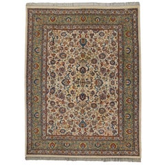 Vintage Persian Style Rug with French Country or Gustavian Style