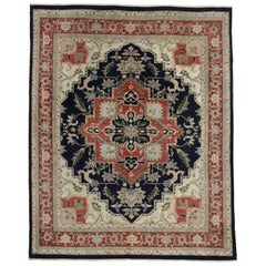 Vintage Persian Style Rug with Tabriz Design