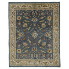 Vintage Persian Style Rug with Traditional Mahal Design