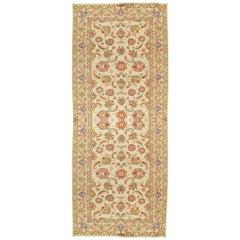 Vintage Persian Sultanabad Carpet Handmade Oriental Rug, Ivory, Green, Blue, Red