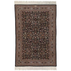 Vintage Persian Tabriz Accent Rug with Old World Baroque Style
