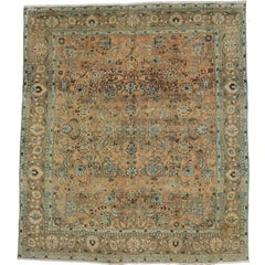 Vintage Persian Tabriz Area Rug with Eclectic Parisian and Georgian Style