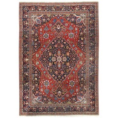 Vintage Persian Tabriz Carpet Rug  8'6 x 11'6