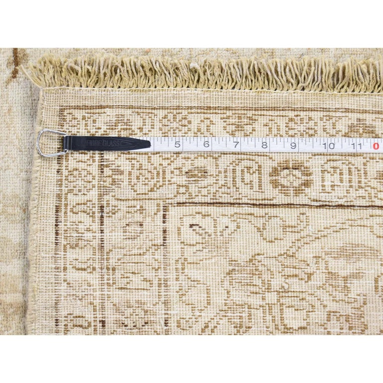 Vintage Persian Tabriz Full Pile Not Worn Hand Knotted Rug 5