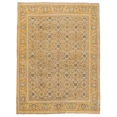 Vintage Persian Tabriz Handmade Wool Rug