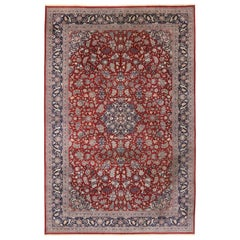 Vintage Persian Tabriz Palace Rug with Jacobean Elizabethan Style