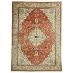 Vintage Persian Tabriz Palace Size Rug with Arts & Crafts Renaissance Style