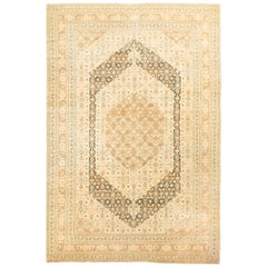 Vintage Persian Tabriz, Rug Carpet, circa 1930 7'1 x 10'7