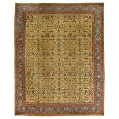 Vintage Persian Tabriz Rug, circa 1920, 10' x 12'6