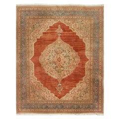 Vintage Persian Tabriz Rug, circa 1920 8'2 x 10'