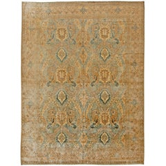 Vintage Persian Tabriz Rug