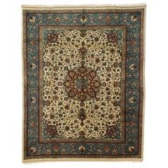 Vintage Persian Tabriz Rug with Baroque Venetian Style