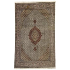 Vintage Persian Tabriz Rug with Mahi Fish Design