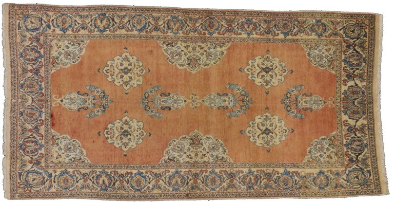 20th Century Vintage Persian Tabriz Rug with Swedish Farmhouse Style For Sale
