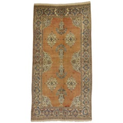 Vintage Persian Tabriz Rug with Swedish Farmhouse Style