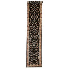 Vintage Persian Tabriz Runner with Hollywood Regency Style