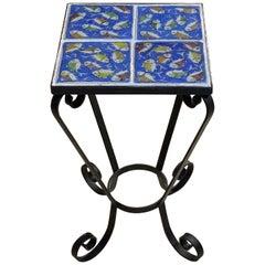 Vintage Persian Tile Side Table