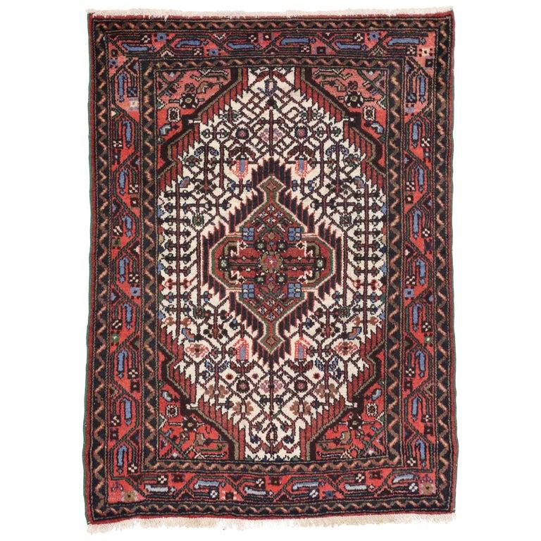 Vintage Persian Tuyserkan Hamadan Rug, Kitchen, Foyer Or