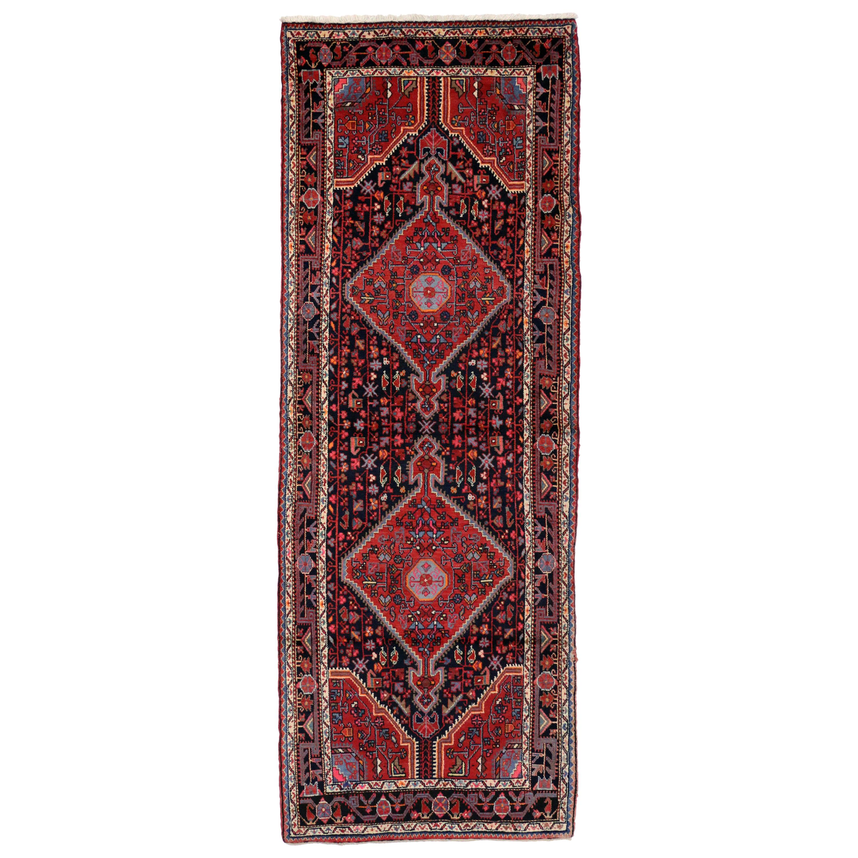 Vintage Persian Tuyserkan Hamadan Runner, Hallway Runner