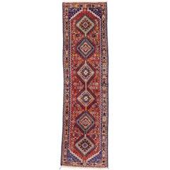 Nomadic Vintage Persian Yalameh Runner with Tribal Style, Hallway Runner