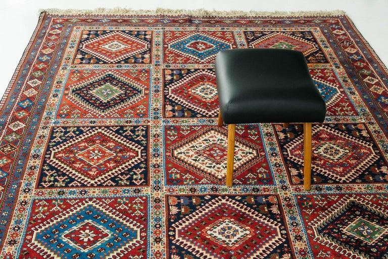 Vintage Persian Yalameh Shiraz Rug For Sale 4