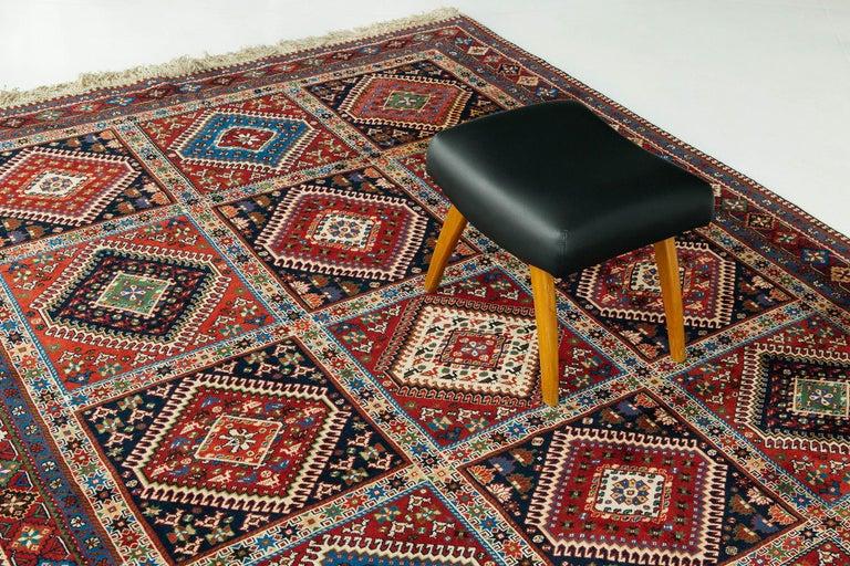 Vintage Persian Yalameh Shiraz Rug For Sale 5