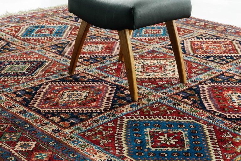 20th Century Vintage Persian Yalameh Shiraz Rug For Sale