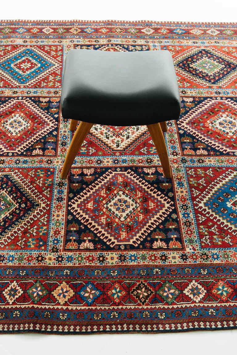 Vintage Persian Yalameh Shiraz Rug For Sale 1