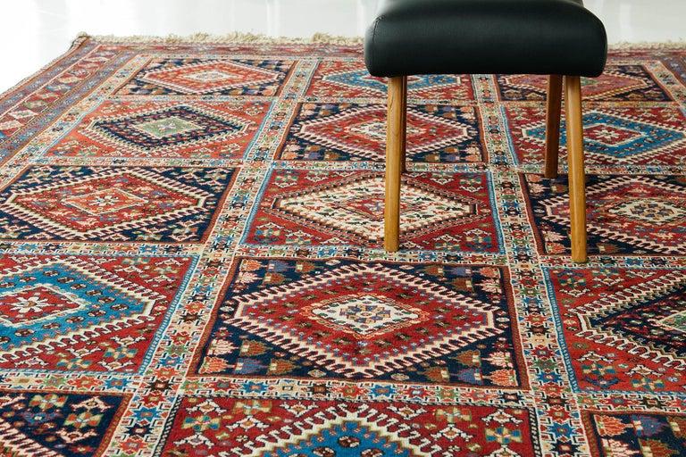 Vintage Persian Yalameh Shiraz Rug For Sale 3
