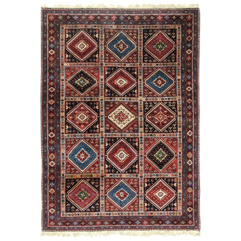 Vintage Persian Yalameh Shiraz Rug For Sale