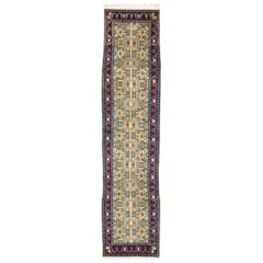 Vintage Persian Yazd Runner, Long Hallway Runner