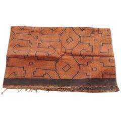Vintage Peruvian Fragment in Brown and Burnt Orange