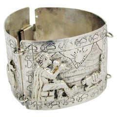 Vintage Peruvian Silver Bracelet from Industria Peruana, 1920s