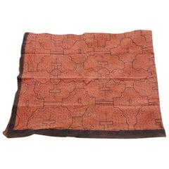 Vintage Peruvian Textile in Brown and Burnt Orange