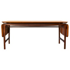 Vintage Peter Hvidt & Orla Mølgaard Massive Teak Table