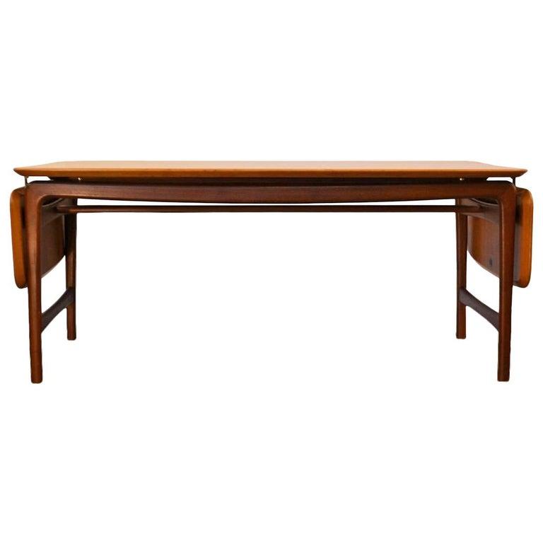 Orla Retro Coffee Table: Vintage Peter Hvidt And Orla Mølgaard Massive Teak Table