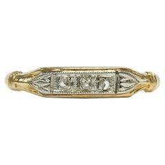 Vintage Petite 14 Karat Three Diamond Ring