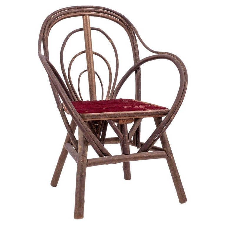 Vintage Petite Bent-Willow Chair For Sale