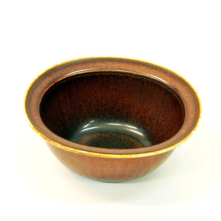 Vintage Petite Ceramic Bowl by Gunnar Nylund, 1950s Rörstrand, Sweden In Good Condition For Sale In Stockholm, SE